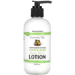 Sunny Isle, Jamaican Black Castor Oil, Hand & Body Stress Relief Lotion, 8 fl oz