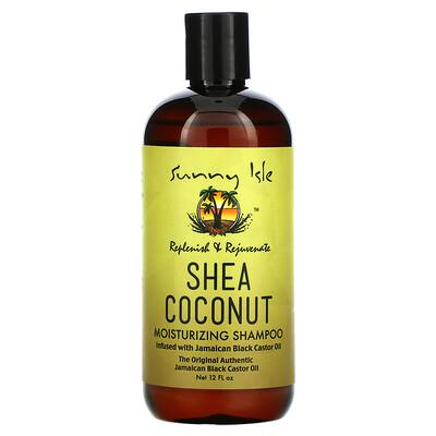 Sunny Isle Shea Coconut Moisturizing Shampoo with Jamaican Black Castor Oil, 12 fl oz