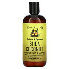 Sunny Isle, 乳木果椰子保濕洗髮水含有牙買加黑蓖麻油,12  液量盎司