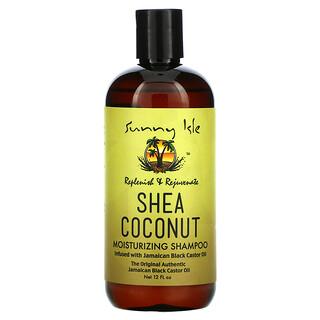 Sunny Isle, Shea Coconut Moisturizing Shampoo with Jamaican Black Castor Oil, 12 fl oz