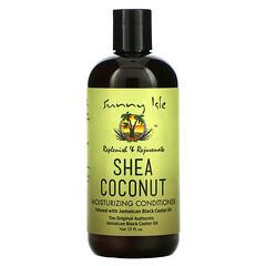 Sunny Isle, 乳木果椰子保濕護髮素含有牙買加黑蓖麻油,12 液量盎司