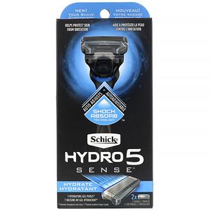 Schick, Hydro 5 Sense, Hydrate, 1 Razor, 2 Cartridges отзывы