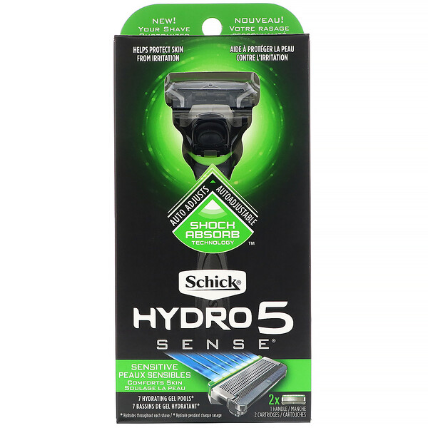 Hydro 5 Sense, Sensitive, 1 Razor, 2 Cartridges