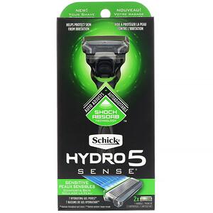 Schick, Hydro 5 Sense, Sensitive, 1 Razor, 2 Cartridges отзывы