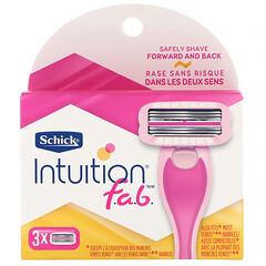 Schick, Intuition F.A.B. 剃刀替換裝,3 個替換裝