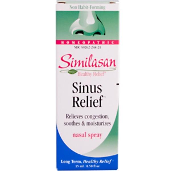 Similasan, Sinus Relief Nasal Spray, 0.50 fl oz (15 ml) (Discontinued Item)