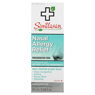 Similasan, 過敏性鼻炎緩解噴劑, 0.68 fl oz (20 ml)