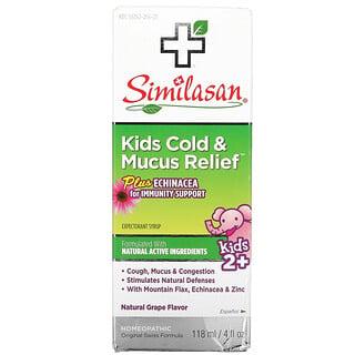 Similasan, Kids Cold & Mucus Relief(キッズ風邪&痰リリーフ)、2歳以上、ブドウ味、118ml(4液量オンス)