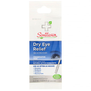 Similasan, Dry Eye Relief, Single-Use Sterile Eye Drops, 0.014 fl oz (0.4 ml)