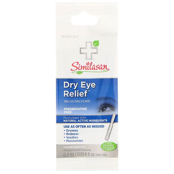 Similasan, Dry Eye Relief, Single-Use Sterile Eye Drops, 0.014 fl oz (0.4 ml)