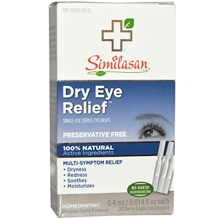 Similasan, Dry Eye Relief, Single-Use Sterile Eye Drops, 0.014 fl oz (0.4 ml) Each