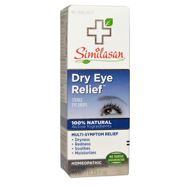 Similasan, Dry Eye Relief、無菌目薬、 0.33液量オンス (10 ml) (Discontinued Item)