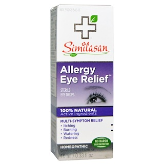 Similasan, Allergy Eye Relief, Sterile Eye Drops, 0.33 fl oz (10 ml)