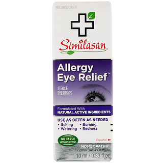 Similasan, Soulagement des allergies oculaires, Collyre stérile, 0,33 fl oz (10 ml)