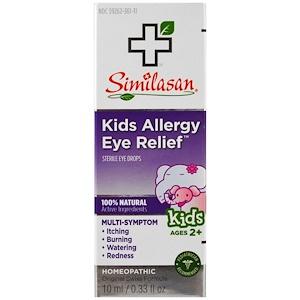 Симиласан, Kids Allergy Eye Relief, Sterile Eye Drops, Ages 2+, 0.33 fl oz (10 ml) отзывы
