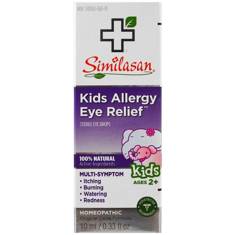 Similasan, 兒童抗過敏滴眼液,無菌眼藥水,2歲以上,0.33液體盎司(10毫升)