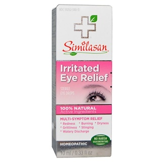 Similasan, Irritated Eye Relief, Sterile Eye Drops, 0.33 fl oz (10 ml)
