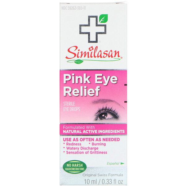 Pink Eye Relief, Sterile Eye Drops, 0.33 fl oz (10 ml)