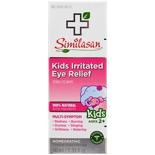 Similasan, Kids Irritated Eye Relief, Sterile Eye Drops, Ages 2+, 0.33 fl oz (10 ml)