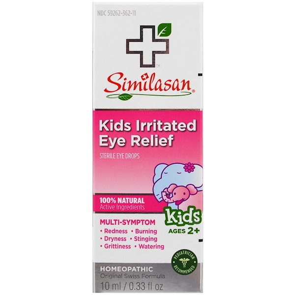 Similasan, Kids Irritated Eye Relief, Sterile Eye Drops, Ages 2+, 0.33 fl oz (10 ml)