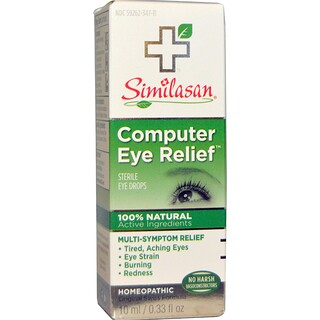 Similasan, Soulagement de la fatigue oculaire (ordinateur), goutte oculaires stériles, 10 ml