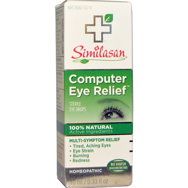 Similasan, Computer Eye Relief, gotas de ojos estéril, 0,33 fl oz (10 ml)
