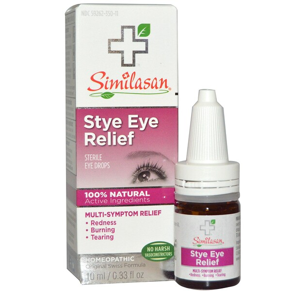 Similasan, Stye Eye Relief, Sterile Eye Drops, 0.33 fl oz (10 ml)
