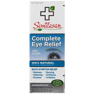 Similasan, Complete Eye Relief、滅菌の目薬、0.33 fl oz (10 ml)