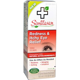 Similasan, Redness & Itchy Eye Relief, 0.33 fl oz (10 ml)