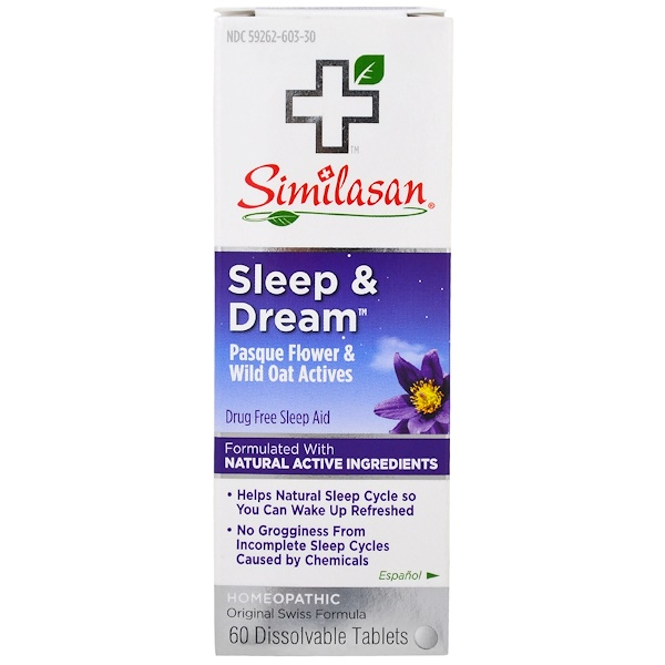 Similasan, Sleep & Dream, 60 Dissolvable Tablets