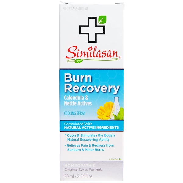 Similasan, Burn Recovery, Calendula & Nettle Actives, Cooling Spray, 3.04 fl oz (90 ml) (Discontinued Item)