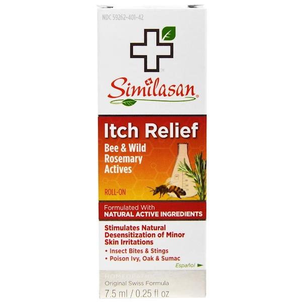 Similasan, Itch Relief Roll-On, 0.25 fl oz (7.5 ml) (Discontinued Item)