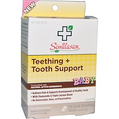 Similasan, Baby Teething + Tooth Support, 135 Quick Dissolving Tablets