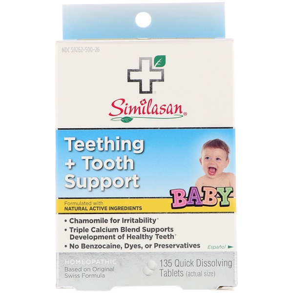 Baby Teething + Tooth Support, 135 Quick Dissolving Tablets