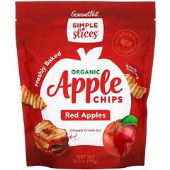 Simple Slices, 有機蘋果脆片,紅蘋果,3.5 盎司(99 克)