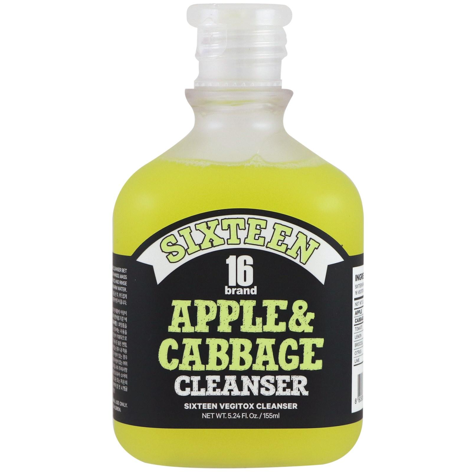 16 Brand, Vegitox, чистящее средство с яблоком и капустой, 5,24 ж. унц. (155 мл)