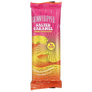 SkinnyDipped, 鹹焦糖味,黑巧克力,2.8 盎司(79 克)