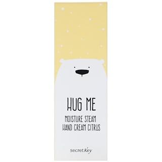 Secret Key, Hug Me, Moisture Steam Hand Cream, Citrus, 5.07 oz (30 ml)