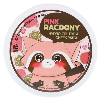Купить Аппликационные пластинки для глаз и щек с увлажняющим гелем Pink Racoony, 60 пластинок