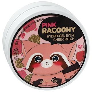 Secret Key, Водный гель для глаз и щек, Pink Racoony, 60 патчей