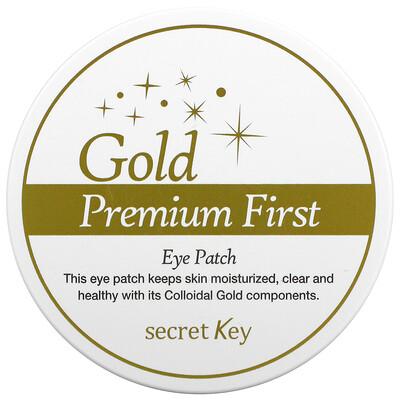 Купить Secret Key Gold Premium First, Eye Patch, 60 Patches, 3.17 oz (90 g)