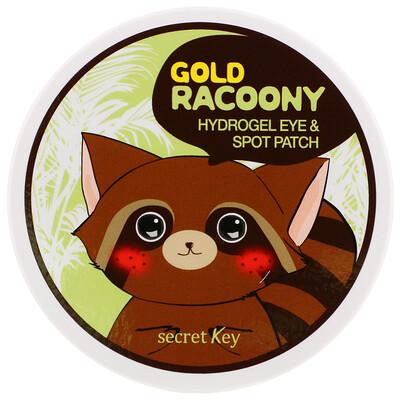 Secret Key Золотой енот, Гидро гель для кожи вокруг глаз и пятен на коже, 90 шт  - купить со скидкой