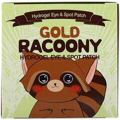 Secret Key, Gold Racoony Hydrogel Eye & Spot Patch, 90 Pieces