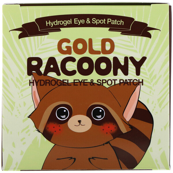 Secret Key, Gold Racoony Hydrogel Eye & Spot Patch, 90 Pieces