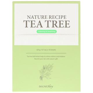 Secret Key, Nature Recipe Mask Pack, Tea Tree, 10 Masks, 0.7 oz (20 g) Each
