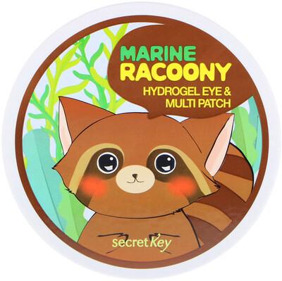 Купить Secret Key Marine Racoony, гидрогелевые патчи для глаз и других зон, 60патчей