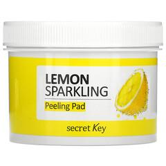 Secret Key, 檸檬起泡去角質墊,70 片,4.39 液量盎司(130 毫升)