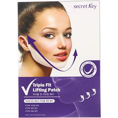 Secret Key, ट्रिपल फिट लिफ्टिंग पैच, 5 पैचेज़, 0.70 औंस (20 ग्राम) प्रत्येक