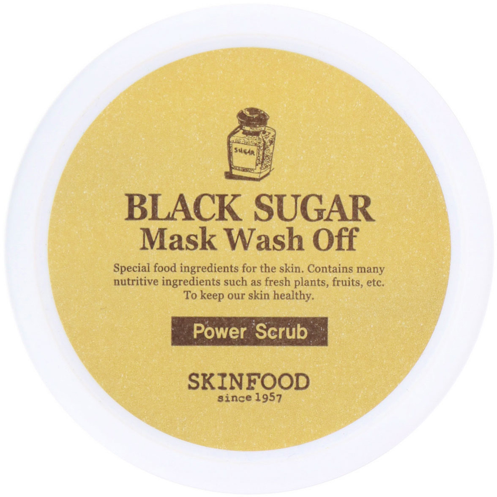 Skinfood Black Sugar Mask Wash Off 352 Oz 100 G Skin Food Strawberry