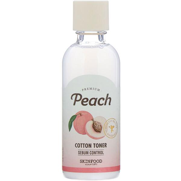 Skinfood, Premium Peach, Cotton Toner, 6.09 fl oz (180 ml) (Discontinued Item)